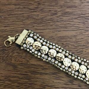 NWT Gold Rhinestone Embellished Choker necklace